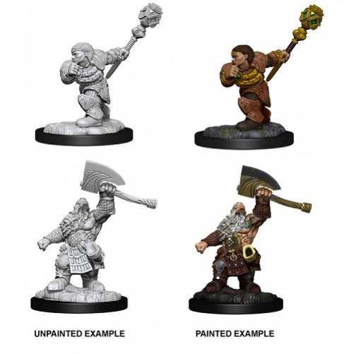 Dwarf Fighter & Dwarf Cleric - Magic the Gathering Miniatures - W14