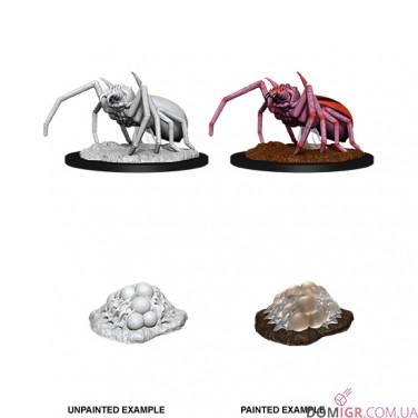 Giant Spider & Egg Clutch - D&D Nolzur's Marvelous Miniatures - W12