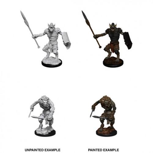 Gnoll & Gnoll Flesh Gnawer - D&D Nolzur's Marvelous Miniatures - W12