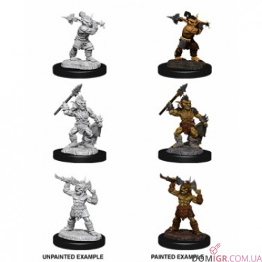 Goblins & Goblin Boss - D&D Nolzur's Marvelous Miniatures - W12