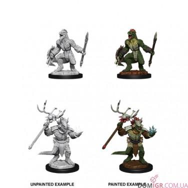 Lizardfolk & Lizardfolk Shaman - D&D Nolzur's Marvelous Miniatures - W12