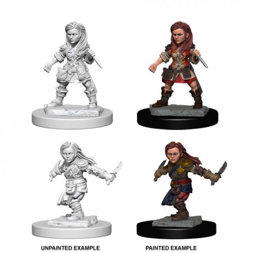 Halfling Female Rogue - D&D Nolzur's Marvelous Miniatures - W1
