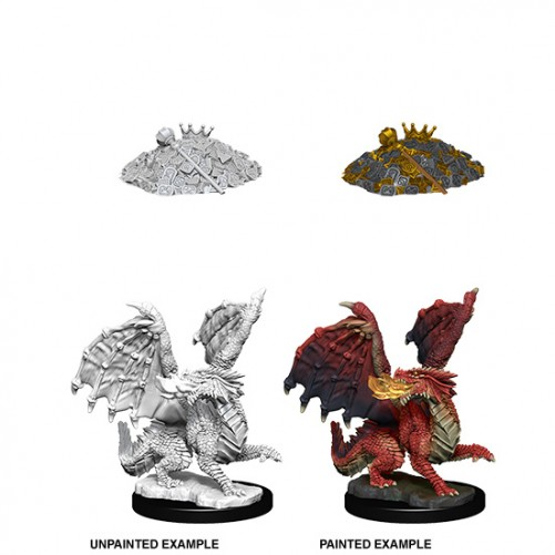 Red Dragon Wyrmling - D&D Nolzur's Marvelous Miniatures - W10