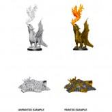 Gold Dragon Wyrmling & Small Treasure Pile - D&D Nolzur's Marvelous Miniatures - W11