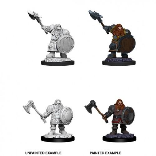 Male Dwarf Fighter - D&D Nolzur's Marvelous Miniatures - W11