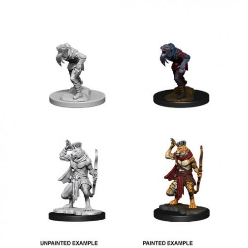Wererat & Weretiger - D&D Nolzur's Marvelous Miniatures - W11