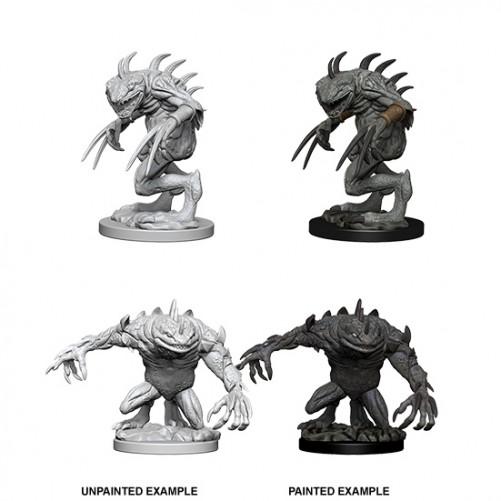 Gray Slaad & Death Slaad - D&D Nolzur's Marvelous Miniatures - W5