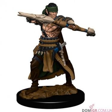 Half-Elf Male Ranger  - Pathfinder Battles: Premium Painted Figure