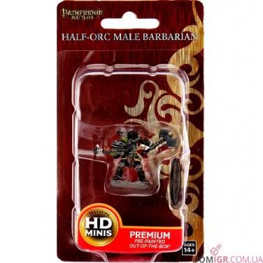 Half-Orc Male Barbarian  - Pathfinder Battles: Premium Painted Figure