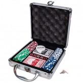 Покерный набор на 100 фишек - алюминиевый кейс