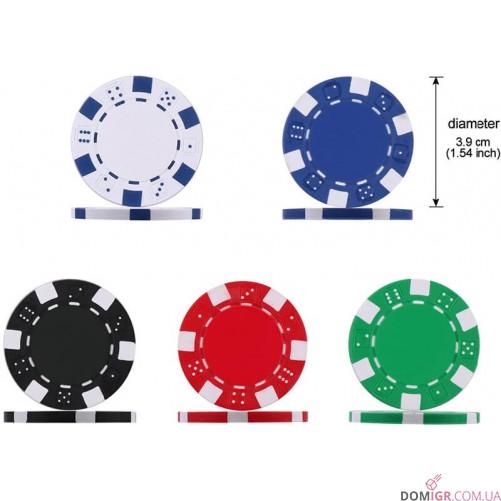 Покерный набор на 300 фишек - алюминиевый кейс