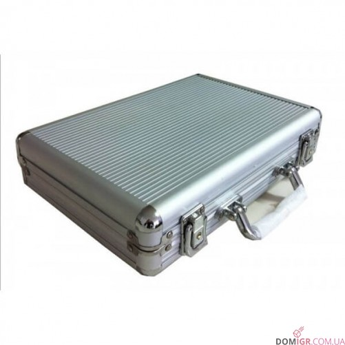 Покерный набор на 200 фишек - алюминиевый кейс