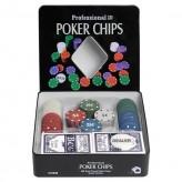 Покерный набор на 100 фишек - жестяная коробка