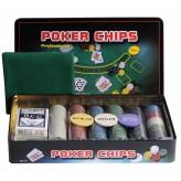 Покерный набор на 300 фишек - жестяная коробка