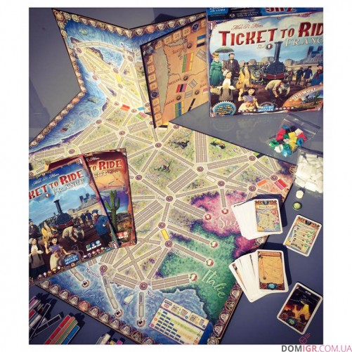 Ticket to Ride: France & Old West - Map Collection #6