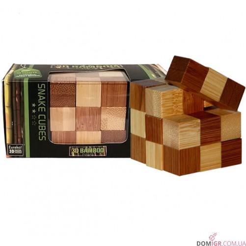 Snake Cubes Puzzle - бамбуковая головоломка