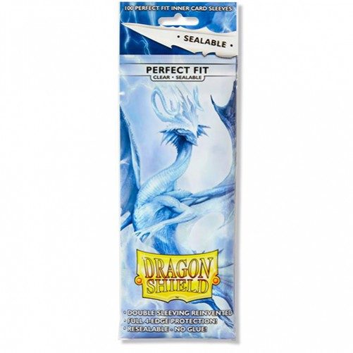 Dragon Shield Perfect Fit Toploader - Sealable Clear - Протекторы 100шт