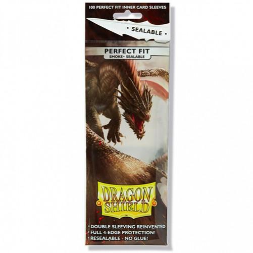 Dragon Shield Perfect Fit Toploader - Sealable Smoke - Протекторы 100шт
