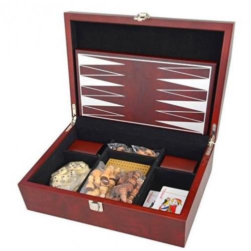 Игровой набор в подарочной деревянной коробке